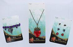 Disney Descendants 5pcs Jewelry Set: Necklace, Earrings, Bracelets