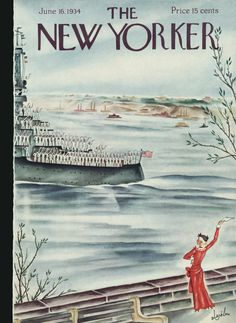 The New Yorker - Saturday, June 1934 - Issue # 487 - Vol. 10 - N° 18 - Cover by Constantin Alajalov The New Yorker, New Yorker Covers, Old Magazines, Vintage Magazines, Journal Vintage, Art Deco Paintings, Magazine Art, Magazine Covers, Go To New York