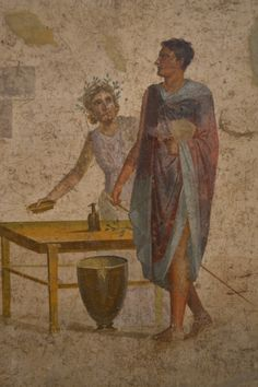 Detail of a fresco from Pompeii showing a scene from the myth of Jason. Naples Archaeological Museum