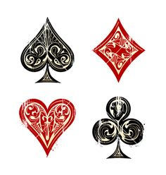 Playing cards symbols vector 1353892 - by morys on VectorStock®