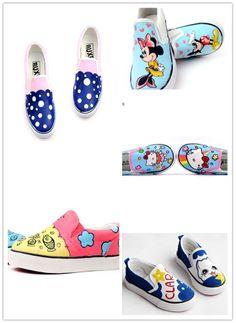 cute design cartoon shoes www.shoemycolor.com 36feac82af