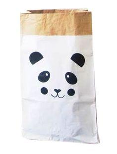 Opbergzak Panda - Zwart van MonpetitZoReol