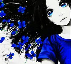 Anime girl blue #manga #anime #blue