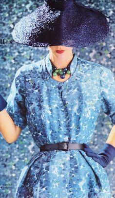 blue vintage floral dress