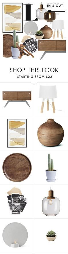 """""""Earthy colors"""" by sofiehoff ❤ liked on Polyvore featuring interior, interiors, interior design, dom, home decor, interior decorating, Eastvold Furniture, Georg Jensen, H&M i HAY"""