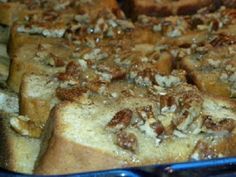 Cookin' with Super Pickle: Baked Banana Bread French Toast Casserole w/ Pecan Topping
