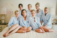 Bride Bridal Party Oxford Monogrammed Embroidered Wedding Day Getting Ready Shirts Bachelerette Party Shirt by Nolimonograms on Etsy Bridesmaid Get Ready Outfit, Bridesmaid Getting Ready, Bridesmaid Shirts, Wedding Bridesmaids, Wedding Dresses, Bridesmaid Poses, Bridesmaid Dresses, Wedding Pics, Wedding Day