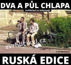 Dva a půl chlapa po rusku – Zvrhlíci XXL – Bez cenzury Funny Pins, Funny Images, Haha, Jokes, Marvel, Humor, Celebrities, Movie Posters, Pump