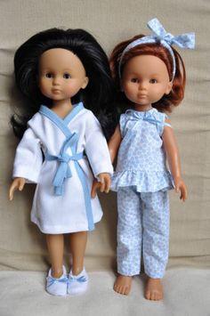 Ensemble Nuit Avec Chaussons Pour Poupée 33 CM Compatible Chéries Corolle | eBay Wellie Wishers Dolls, Barbie Patterns, Little Darlings, Pattern Making, American Girl, Doll Clothes, Flower Girl Dresses, Dressing, Toys