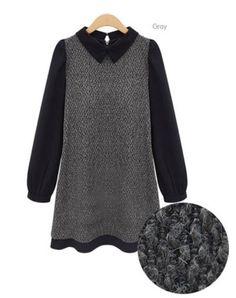 Amazing Cotton Blends Long Sleeve Contrast Lapel Dress