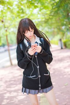 Cute Japanese Girl, Cute Korean Girl, Cute Asian Girls, Beautiful Asian Girls, Cute Girls, Cool Girl, School Girl Japan, Japan Girl, Japan Japan