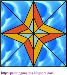 stained glass patterns | Free Stained Glass Pattern:Star ~ painting on glass Stained Glass Patterns Free, Star Painting, Quilting Designs, Free Pattern, Quilts, Stars, Crafts, Craft Ideas, Room