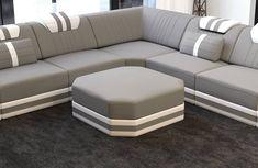Modern Sectional Fabric Sofa San Antonio L Shape with LED – Sofa Design 2020 Sofa Set Designs, L Shaped Sofa Designs, Modern Sofa Designs, Leather Sectional Sofas, Modern Sectional, Corner Sectional Sofa, Diy Sofa, Furniture Sofa Set, Furniture Ideas