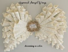 Paper Angel Wings - it's important to pay attention to the tips of your cones. They need to face the edge where the wings connect.