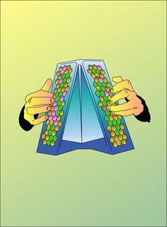 Drawings for the book '20 ans de musiques électroniques' by trax magazine / designed by large Studio / édition Hachette