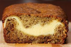 Cheesecake-Filled Banana Bread Here is what you& need! Cheesecake-Filled Banana Bread Servings: 10 (in a loaf) INGREDIENTS Banana Bread 2 ripe bananas 1 large egg, beaten & The post Cheesecake-Filled Banana Bread appeared first on Pinfo Board. Just Desserts, Delicious Desserts, Dessert Recipes, Yummy Food, Delicious Chocolate, Tasty Videos, Food Videos, Cooking Videos Tasty, Kolaci I Torte