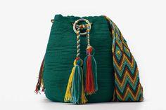 Bolso artesanal - Susuu Wayuu Verde