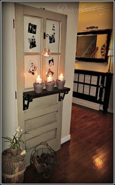 How To Decorate With An Old Door You are in the right place about traditional wooden doors Here we offer you the most beautiful pictures about the wooden doors you are looking for. Old Wooden Doors, Antique Doors, Vintage Doors, Country Decor, Rustic Decor, Farmhouse Decor, Modern Decor, Old Door Projects, Old Door Crafts