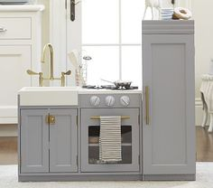 Kids Kitchen $500 http://www.potterybarnkids.com/products/gray-chelsea-all-in-1-kitchen/?pkey=cplayrooms-1&&cplayrooms-1