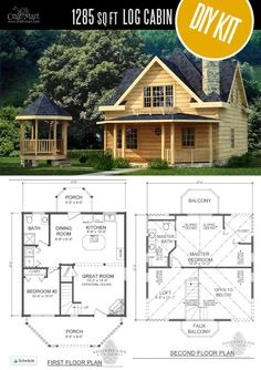 Tiny Log Cabin Kits – Easy DIY Project – Craft-Mart Salem Log Cabin by Southland Log Homes – Choose from a few options of pre-built cabins to log cabin kits that you'll be able to assemble in weeks saving on labor close to of the total cost. Tiny Log Cabins, Log Cabin Kits, Log Cabin Homes, Barn Homes, Prefab Cabins, Mountain Cabins, Log Home Kits, Diy Cabin, Small Cabins