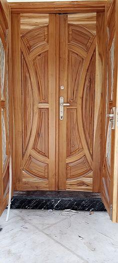 Wooden Front Door Design, Double Door Design, Wooden Front Doors, Door Design Images, Door Design Interior, Main Gate, Double Doors, Modern House Design, Chair Design