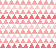 Ombre Triangle Pink fabric by leanne on Spoonflower - custom fabric