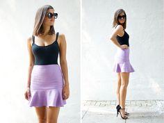 DIY flared fluted hem skirt by apairandaspare, via Flickr