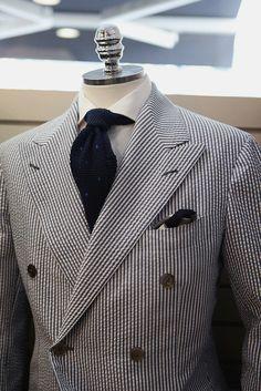 bntailor: Seersucker Doublebreasted Suit for Summer! At BTailorshop