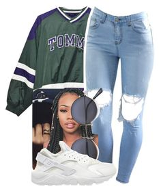 """""""~TOMMY~"""" by champangemamii ❤ liked on Polyvore featuring NIKE, women's clothing, women, female, woman, misses and juniors"""