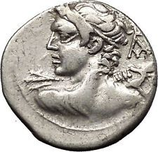 Roman Republic 112BC Hannibal War Time Vejovies Lares Vulcan Silver Coin i53345