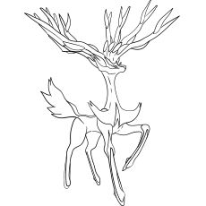 Xerneas Pokemon Coloring Coloring Pages Pokemon Coloring Pages