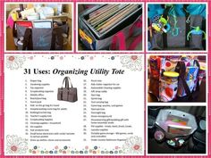 31 ways to use your Thirty-One Organizing Utility tote. https://www.facebook.com/groups/fortheloveofhandbags/ https://www.mythirtyone.com/jessicamercer/
