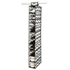 The Macbeth Collection Chevron Printed 10-shelf Shoe Organizer