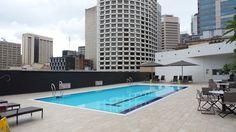 Swimming Pool Area at the Hilton Brisbane Hotel Brisbane, Family Travel, Swimming Pools, Australia, Outdoor Decor, Blog, Home Decor, Family Trips, Swiming Pool