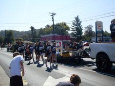 caroll co cheerleaders. tobacco festival parade 2011