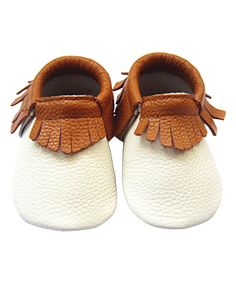 Look at this Off-White & Orange Fringe Leather Booties on #zulily today!