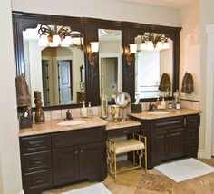 double sink vanity with makeup table. Master Bath Vanity W  Mirrors Simple Elegnce At Its Finest Double Cabinets For Bathroom With Dressing Table Huge