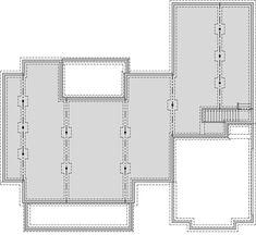 Modern Farmhouse Plan with Bonus Room - floor plan - Unfinished Basement Farmhouse Floor Plans, Modern Farmhouse Exterior, Craftsman House Plans, New House Plans, Dream House Plans, Farmhouse Table, Modern Craftsman, Rustic Farmhouse, Bedroom House Plans