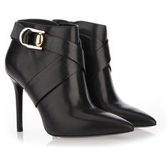 STELLA LUNA Stiletto Heel Double Ring Booties ($570) ❤ liked on Polyvore featuring shoes, boots, ankle booties, high heel stilettos, stiletto boots, heels stilettos, calfskin boots and stiletto high heel boots