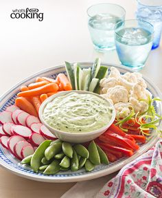 Green Goddess Dip with Vegetables #recipe