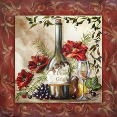 We specialize in publishing open-edition decorative art prints for the home furnishings and gift markets. We're a wholesale business with distribution of our art to numerous retail store chains, catalog/mail order companies, and independent shops. Decoupage Vintage, Decoupage Paper, Decoupage Ideas, Wine Bottle Art, Wine Art, Images Victoriennes, Coaster Art, Wine Decor, Halloween Painting
