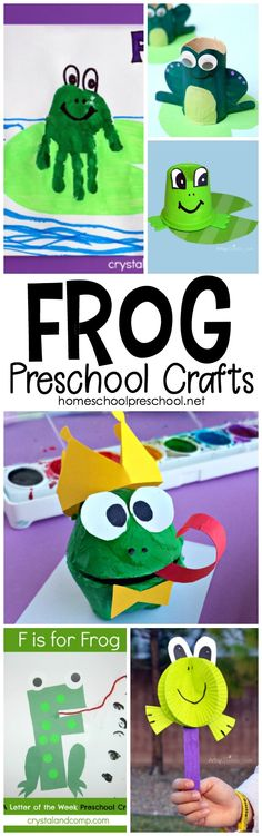 Are you looking for activities to teach your preschoolers about frogs? This is such a nice collection of frog crafts you can add to your homeschool preschool lessons. #homeschoolprek #frogcrafts #homeschooling #preschool #prek #kidscrafts