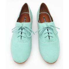 zapatos oxford #turquesa #aguamarina