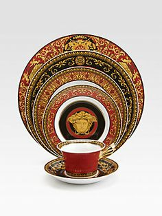 Versace Medusa Red Service Plate.  WOULD LOVE TO OWN THIS DINNER SET.