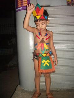 fantasia de índio infantil para menino simples