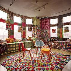 Brooklyn Museum: Elizabeth A. Sackler Center for Feminist Art: Feminist Art Base: Allyson Mitchell Minimalist Room, Square Blanket, Yarn Bombing, Feminist Art, Art Base, My Room, Decoration, House Colors, Fun Crafts