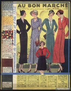 Au Bon Marché (Department Store) 1932 Catalog