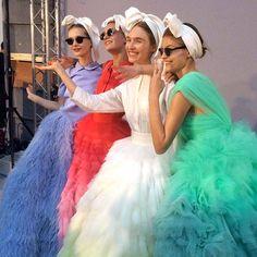 Giambattista Valli's haute couture show -GIAMBATTISTA VALLI SUMMER ACCESSORY HEADSCARF.