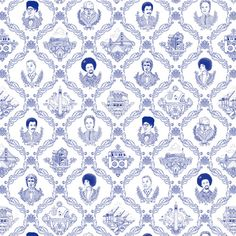'Bay Area Toile on EZ Papes Wallpaper by Flavor Paper. @2Modern'