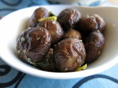 Oregano and Lemon Marinated Mushrooms (antipasto)